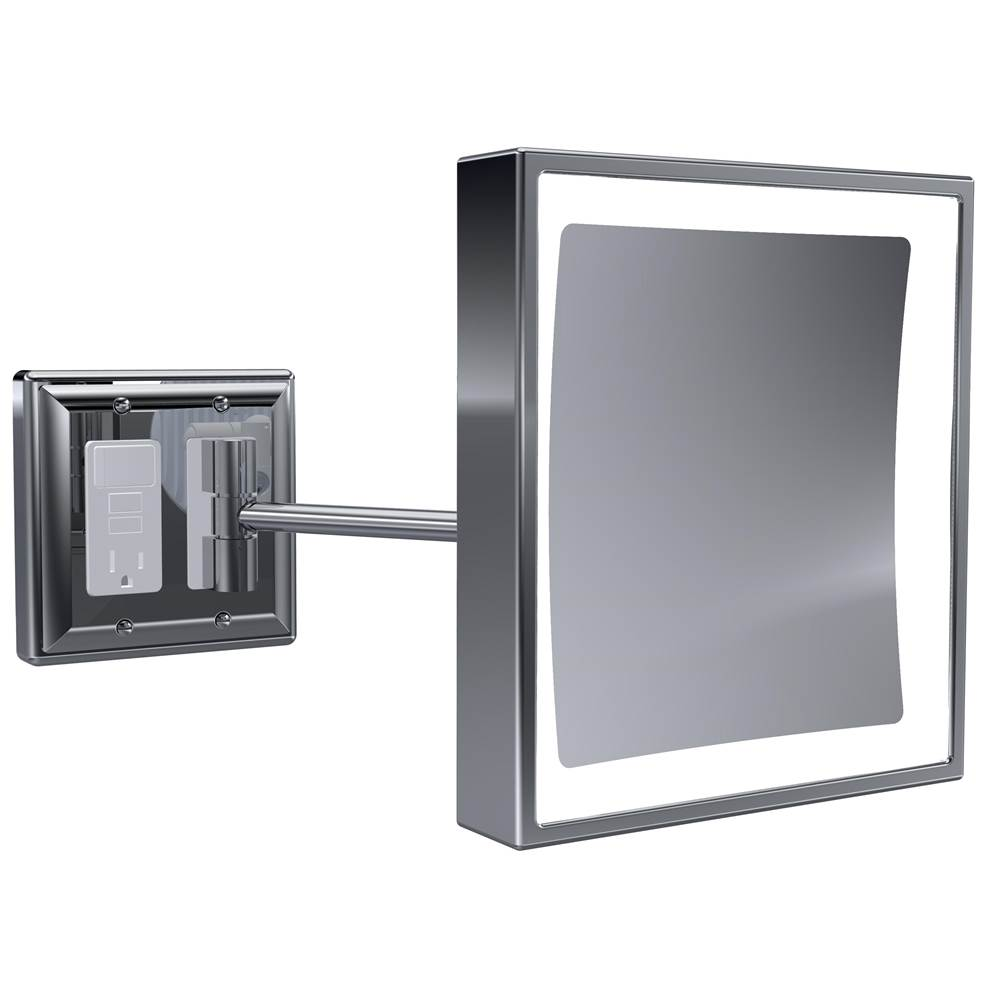 Baci Mirrors Magnifying Mirrors Bathroom Accessories item BSR-209-PN