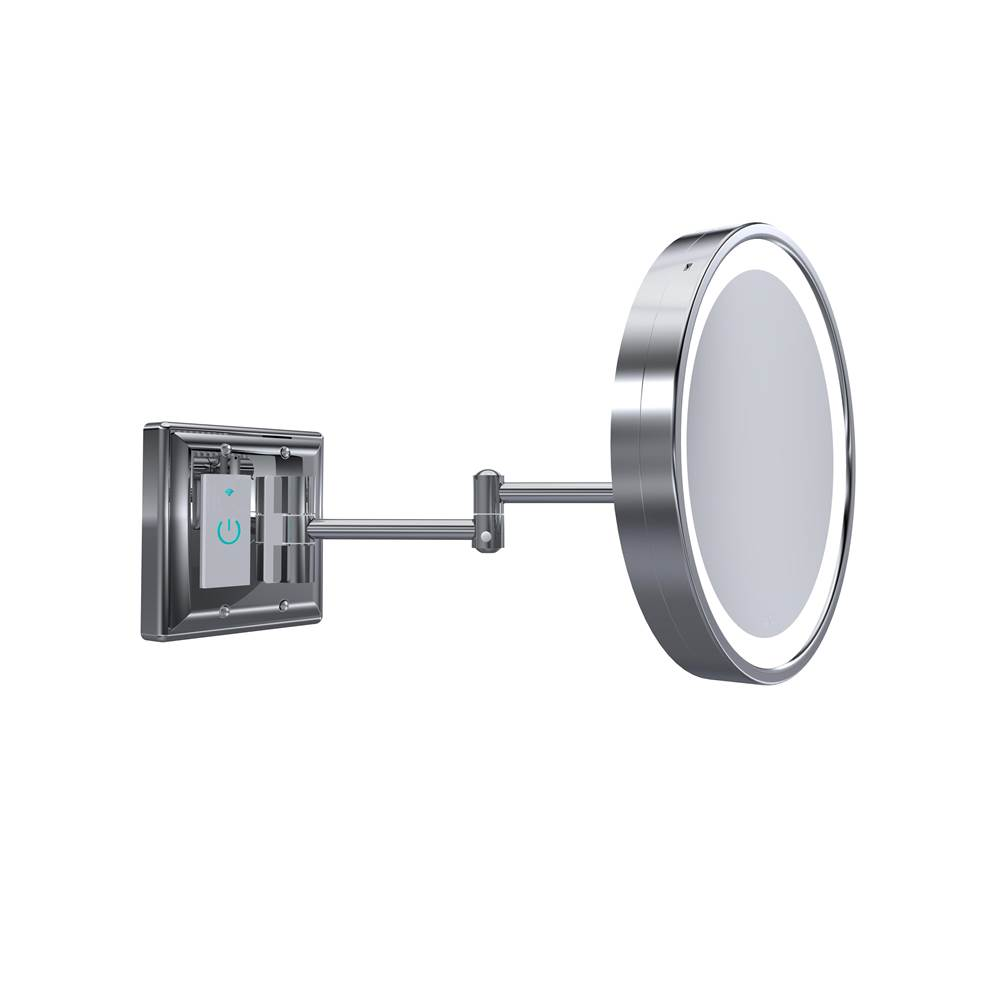 Baci Mirrors Magnifying Mirrors Bathroom Accessories item BSR-SMT-30-GLD
