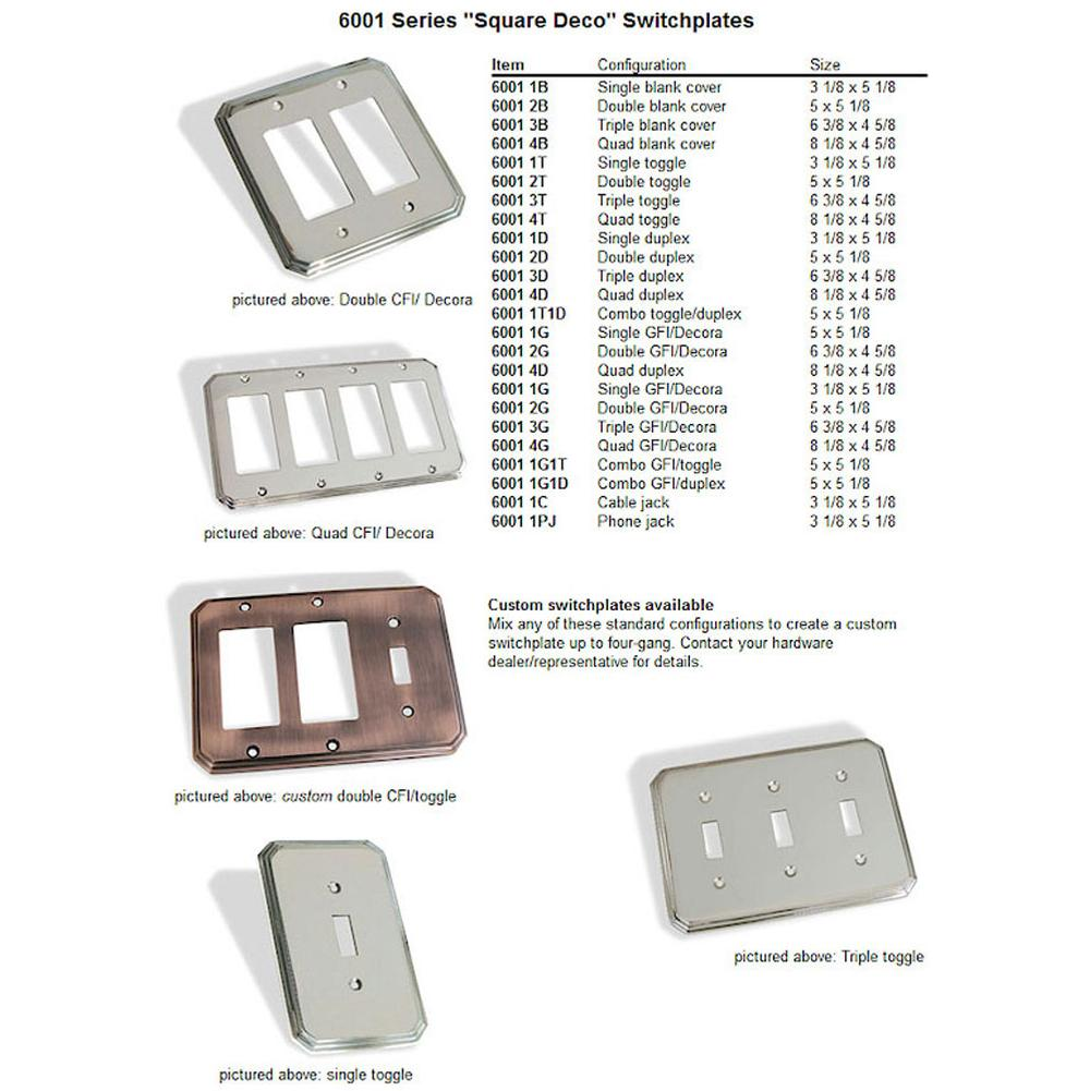 Colonial Bronze  Switch Plates item 6001-1PJ-15
