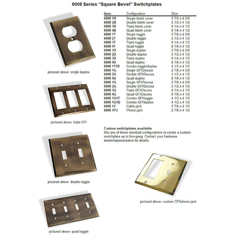 Colonial Bronze  Switch Plates item 6008-4G-M5